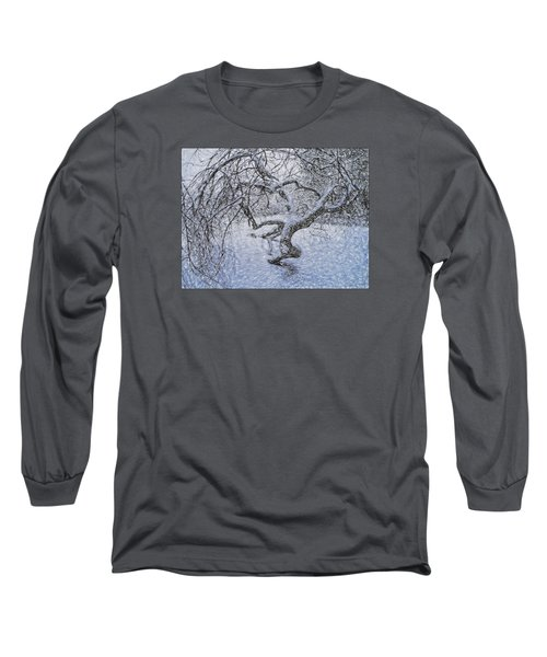 Long Sleeve T-Shirt featuring the photograph Snowfall by Vladimir Kholostykh