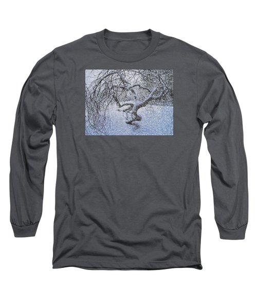 Snowfall Long Sleeve T-Shirt by Vladimir Kholostykh