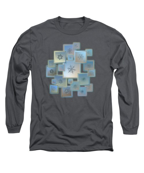 Snowflake Collage - Bright Crystals 2012-2014 Long Sleeve T-Shirt by Alexey Kljatov