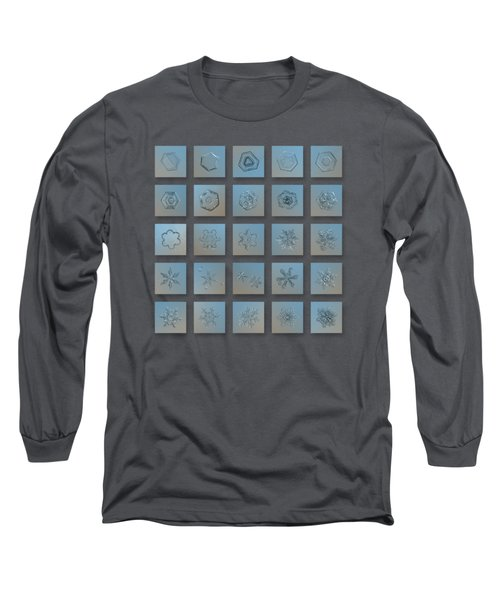 Snowflake Collage - Season 2013 Bright Crystals Long Sleeve T-Shirt