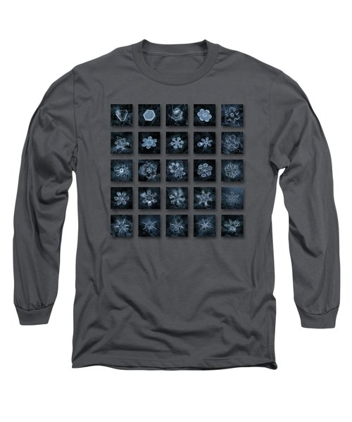 Snowflake Collage - Season 2013 Dark Crystals Long Sleeve T-Shirt
