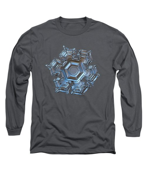 Long Sleeve T-Shirt featuring the photograph Snowflake Photo - Cold Metal by Alexey Kljatov