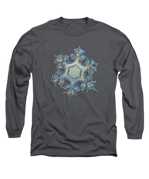 Long Sleeve T-Shirt featuring the photograph Snowflake Photo - Iron Crown by Alexey Kljatov