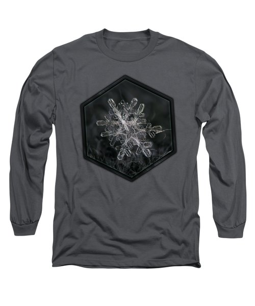 Snowflake Photo - January 18 2013 Grey Colors Long Sleeve T-Shirt