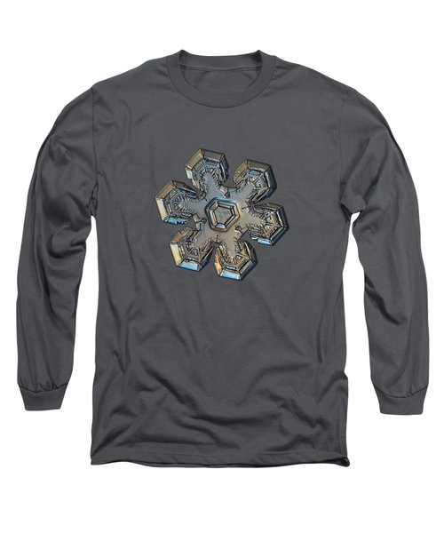 Long Sleeve T-Shirt featuring the photograph Snowflake Photo - Massive Gold by Alexey Kljatov