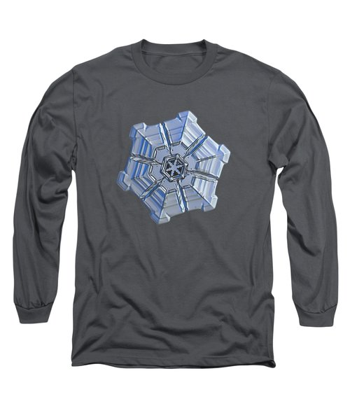Long Sleeve T-Shirt featuring the photograph Snowflake Photo - Winter Fortress by Alexey Kljatov