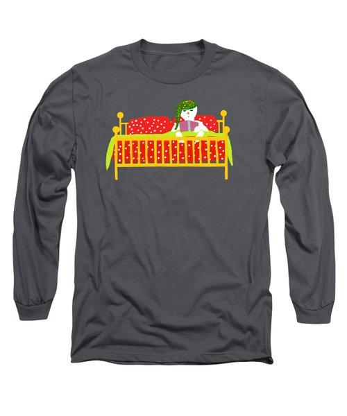 Snowman Bedtime Long Sleeve T-Shirt