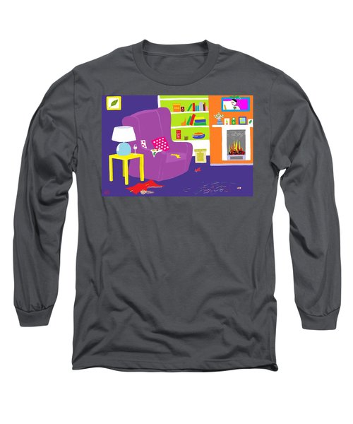 Long Sleeve T-Shirt featuring the digital art Snowman Party by Barbara Moignard