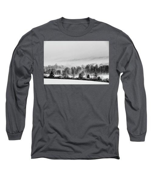 Snowscape Long Sleeve T-Shirt by Nicki McManus