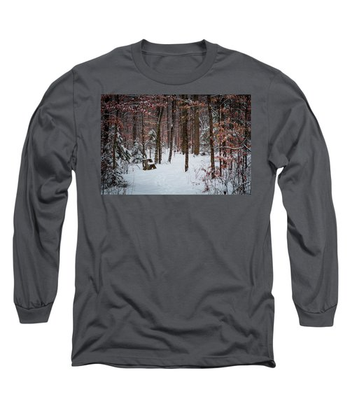 Snowy Bench Long Sleeve T-Shirt