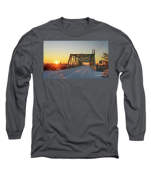 Snowy Bridge Long Sleeve T-Shirt