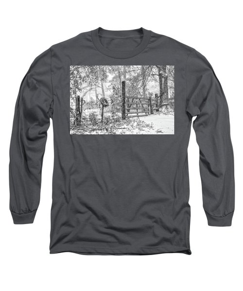 Snowy Cattle Gate Long Sleeve T-Shirt