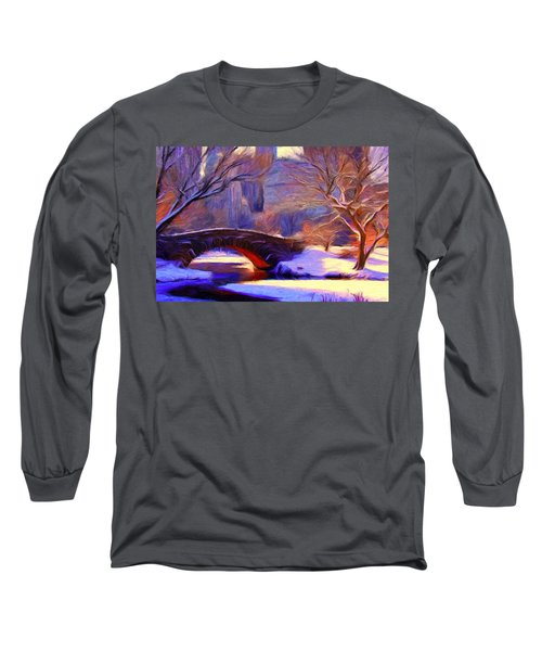 Snowy Central Park Long Sleeve T-Shirt