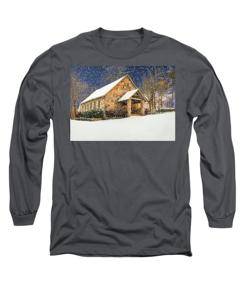 Snowy Cloudland Presbyterian Church  Long Sleeve T-Shirt