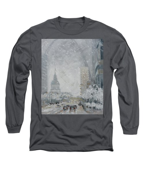 Snowy Day - Market Street Saint Louis Long Sleeve T-Shirt