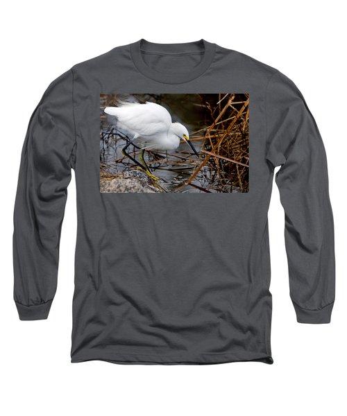 Snowy Egret Egretta Long Sleeve T-Shirt