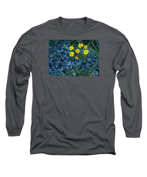 Snowy Goldeneye-#3094 Long Sleeve T-Shirt by J L Woody Wooden