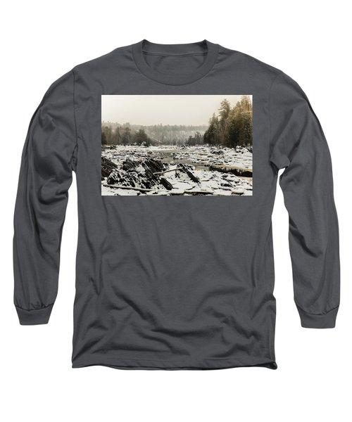 Snowy Morning At Jay Cooke Long Sleeve T-Shirt