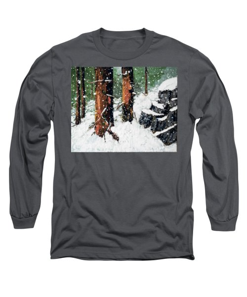 Snowy Redwood Dream Long Sleeve T-Shirt