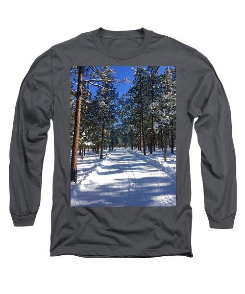 Snowy Road Long Sleeve T-Shirt