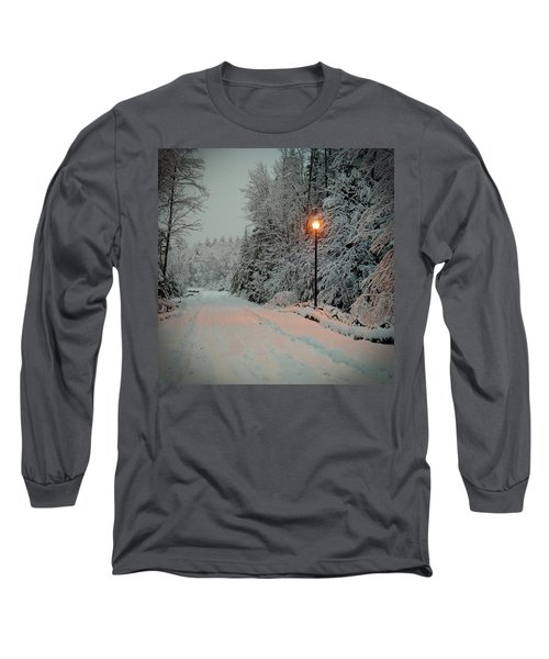 Snowy Road Long Sleeve T-Shirt