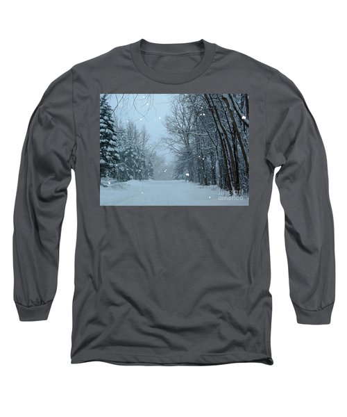Long Sleeve T-Shirt featuring the photograph Snowy Street by Rockin Docks Deluxephotos