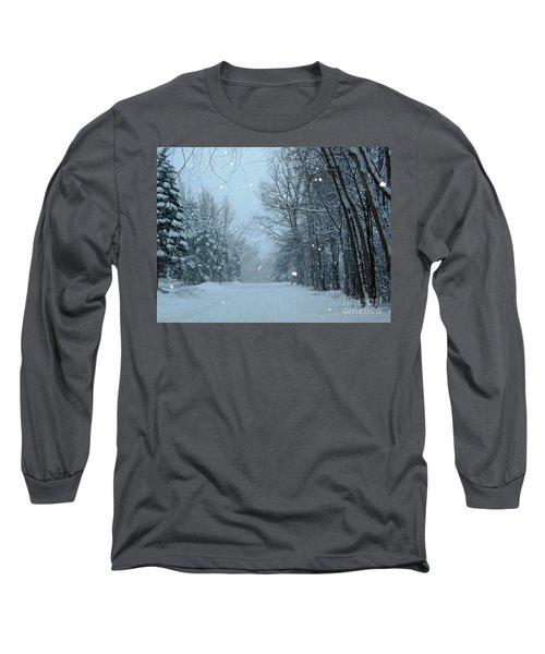 Snowy Street Long Sleeve T-Shirt