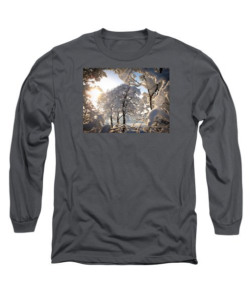 Snowy Trees Long Sleeve T-Shirt by RKAB Works