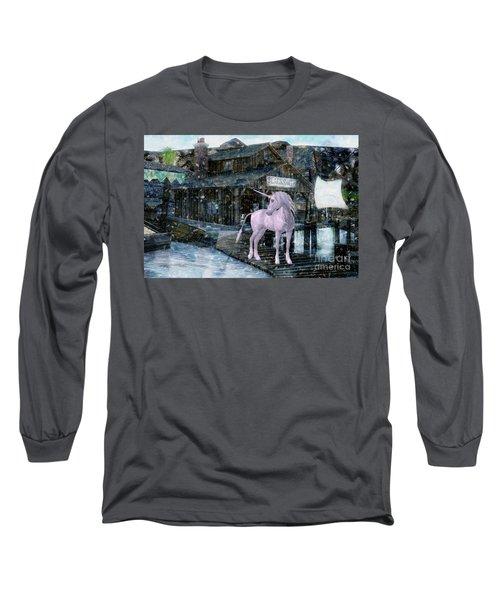 Snowy Unicorn Long Sleeve T-Shirt