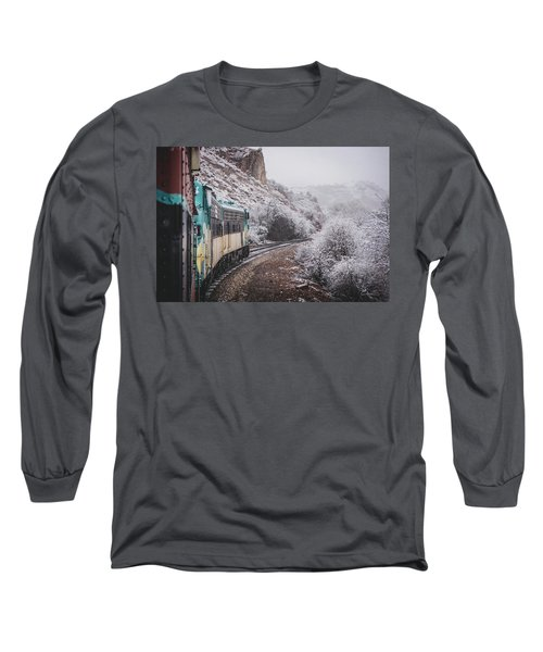 Snowy Verde Canyon Railroad Long Sleeve T-Shirt