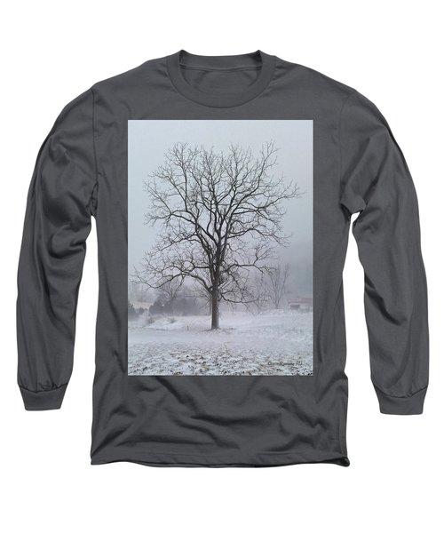 Snowy Walnut Long Sleeve T-Shirt