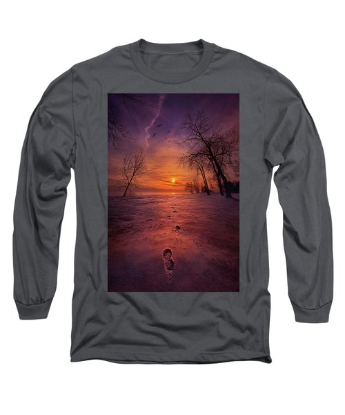 Long Sleeve T-Shirt featuring the photograph So Close No Matter How Far by Phil Koch