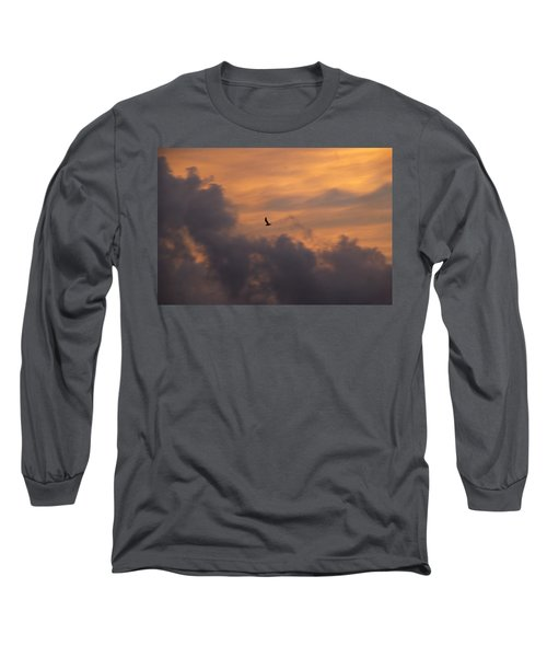 Long Sleeve T-Shirt featuring the photograph Soaring Into The Sunset by Richard Bryce and Family