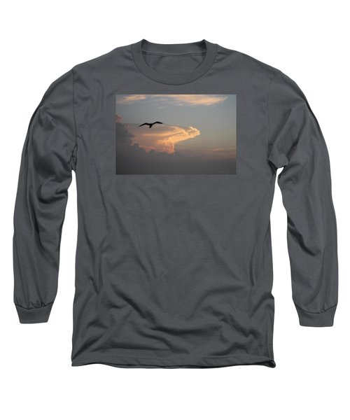 Soaring Over The Clouds Long Sleeve T-Shirt by Robert Banach