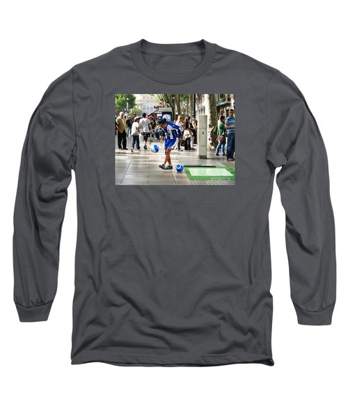 Long Sleeve T-Shirt featuring the photograph Soccer Performance by Haleh Mahbod