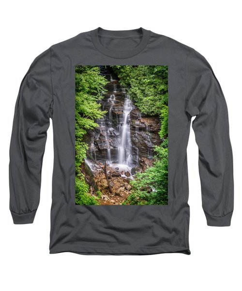 Long Sleeve T-Shirt featuring the photograph Socco Falls by Stephen Stookey