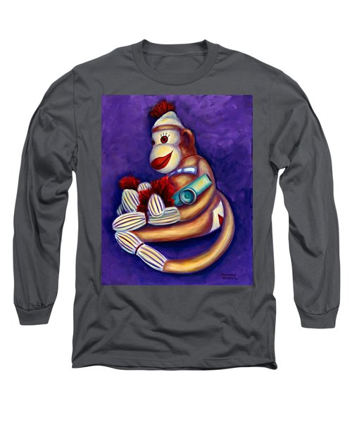 Sock Monkey With Kazoo Long Sleeve T-Shirt