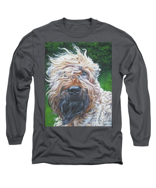 Soft Coated Wheaten Terrier Long Sleeve T-Shirt by Lee Ann Shepard