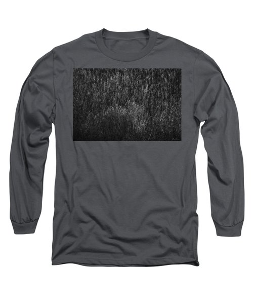 Soft Grass Black And White Long Sleeve T-Shirt by Glenn Gemmell