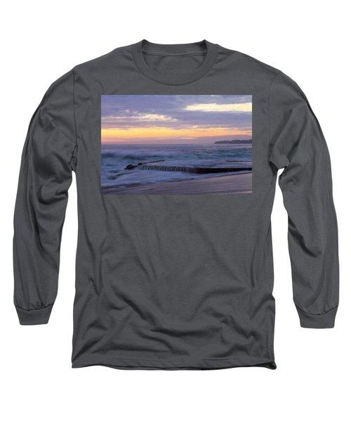 Soft Light On Victoria Beach Long Sleeve T-Shirt