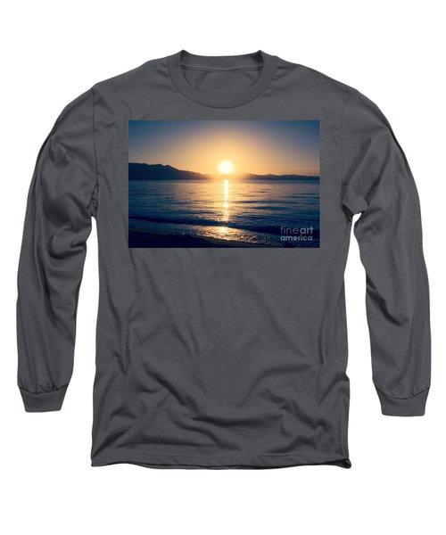 Soft Sunset Lake Long Sleeve T-Shirt