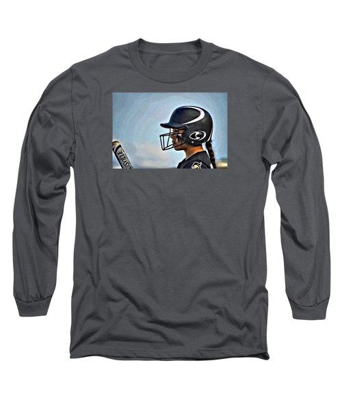 Softball Beauty Girl Long Sleeve T-Shirt