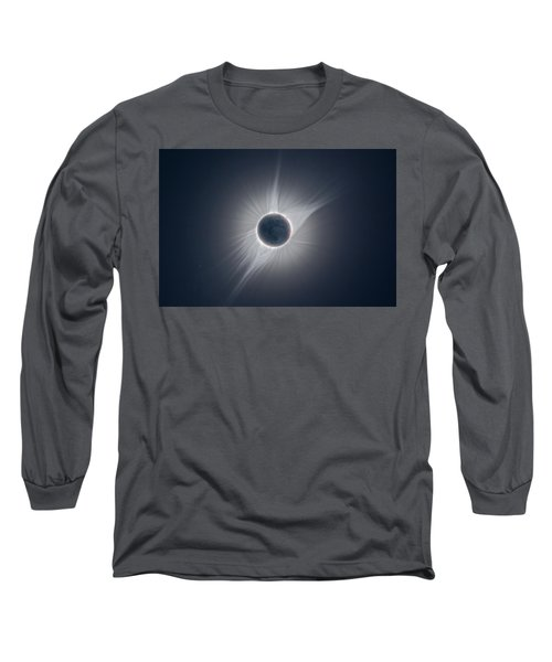Solar Corona During The Eclipse Of August 21 2017 Long Sleeve T-Shirt