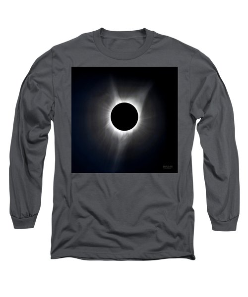 Solar Eclipse Totality Corona Long Sleeve T-Shirt