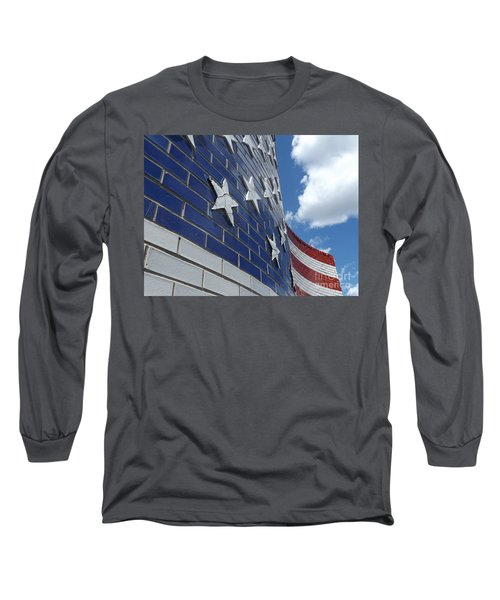 Solid Old Glory  Long Sleeve T-Shirt by Erick Schmidt