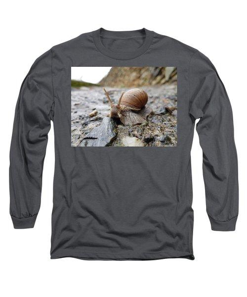 Solitary Snail Long Sleeve T-Shirt