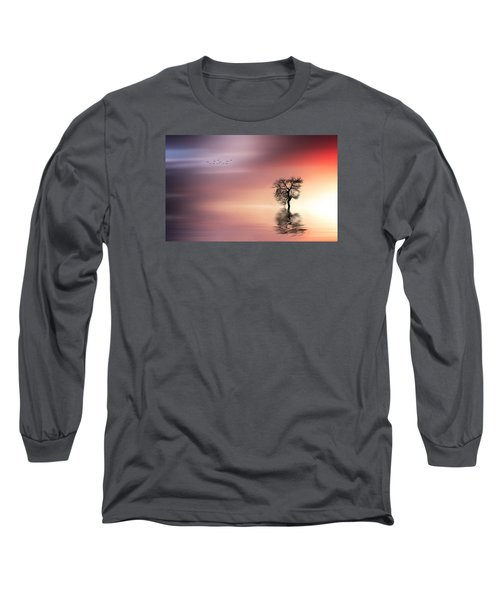Solitude Long Sleeve T-Shirt by Bess Hamiti