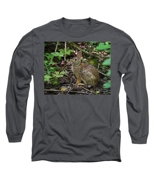 Long Sleeve T-Shirt featuring the photograph Some Bunny Stopped By by Bill Pevlor