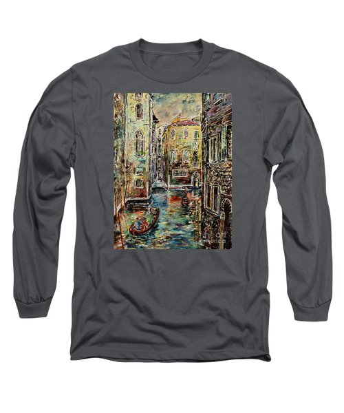 Somewhere In Venice Long Sleeve T-Shirt by Alfred Motzer