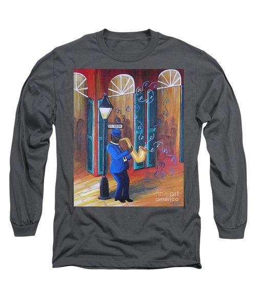 Somewhere On Bourbon Street Long Sleeve T-Shirt